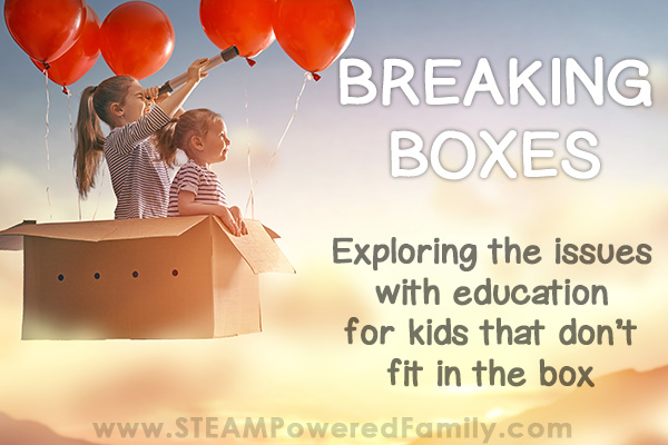 Breaking Boxes – Exploring Issues With Education For Kids That Don't Fit In The Box