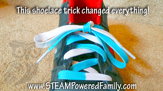 The shoelace trick that finally worked!