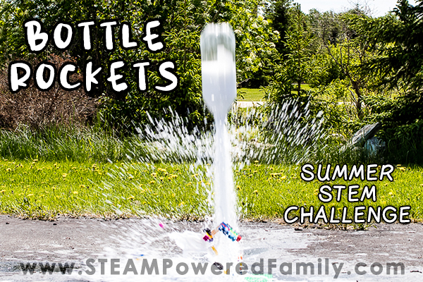 Bottle Rockets are a simple and fun summer STEM activity with chemistry, engineering, math and physics. The Best Backyard STEM Project!