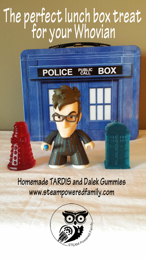 Doctor Who TARDIS and Dalek Handmade Gummy Candies