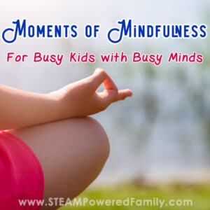 Child being mindful and calm