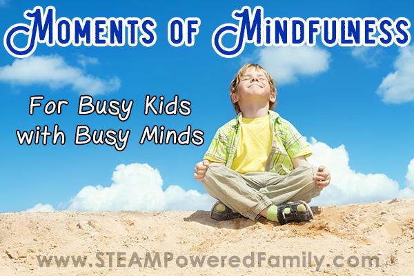 Boy practicing mindfulness on a beach under a blue sky