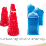 Doctor Who TARDIS and Dalek Handmade Gummy Candies