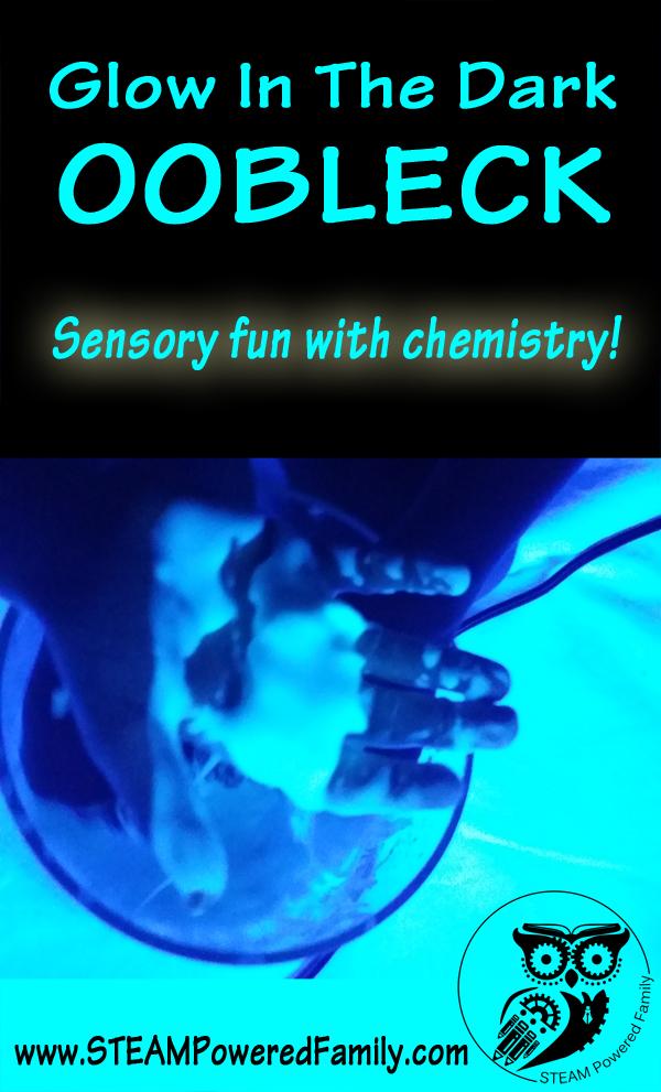 Glow In The Dark Oobleck - Glowing Chemistry and Sensory Fun!