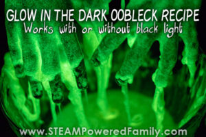 Oobleck recipe that glows in the dark