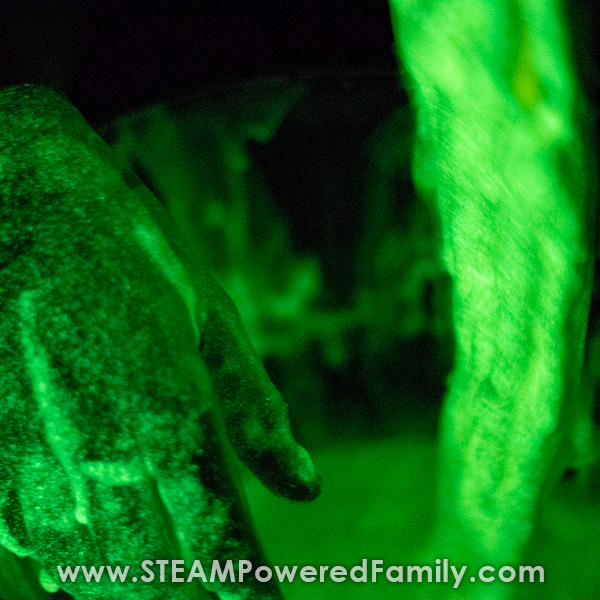 Glow in the dark oobleck that is green
