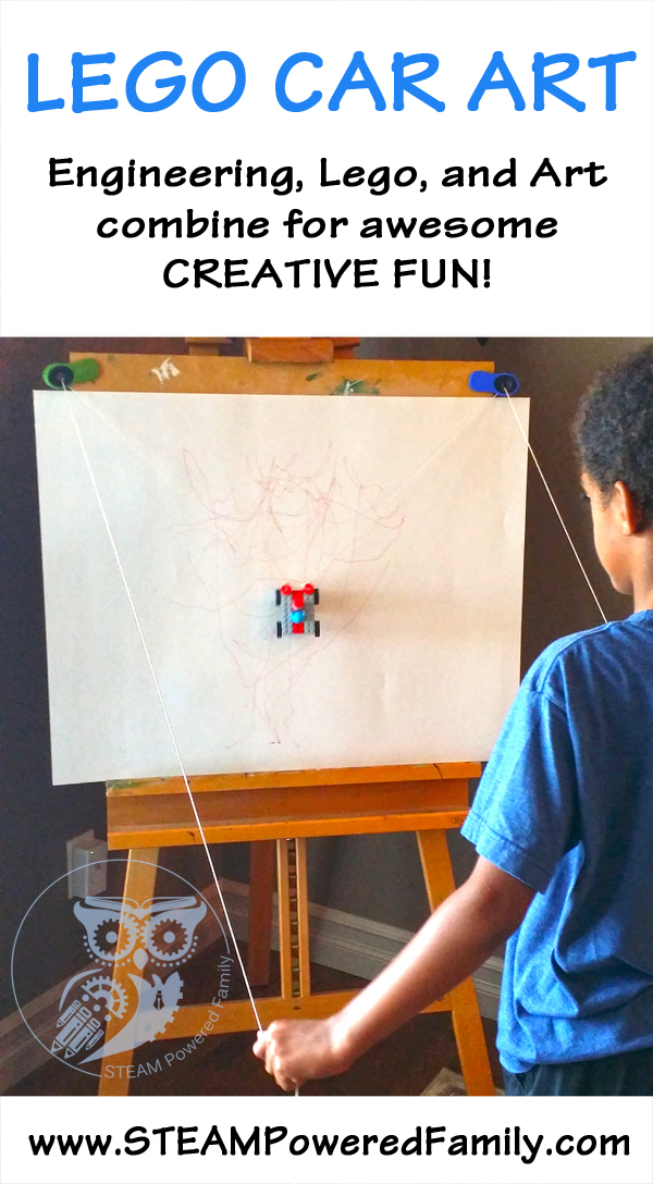 Lego Car Art - Lego, Engineering and Art Combine for Creative FUN! Don't forget the A in STEAM!