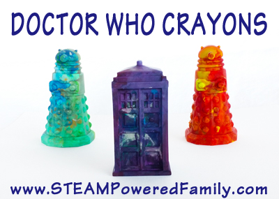Make Your Own Doctor Who Crayons