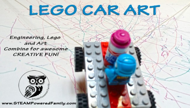 Lego Car Art – Lego, Engineering and Art Combine for Creative FUN on a Vertical Surface!
