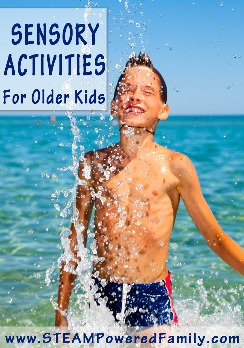 Sensory Activities for the Older Child - Ideas for all interests on this list.