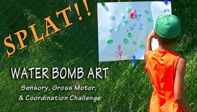 Water Bomb Art – A Sensory, Gross Motor & Coordination Challenge