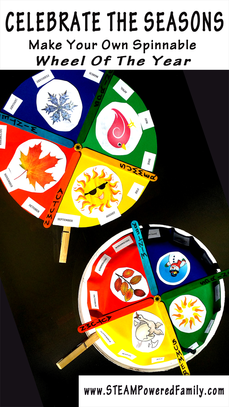 Celebrating the seasons - Create a Wheel of the Year that actually spins and learn about the seasons and months of the year