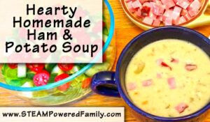 Hearty Homemade Ham And Potato Soup. Perfect for chilly evenings.