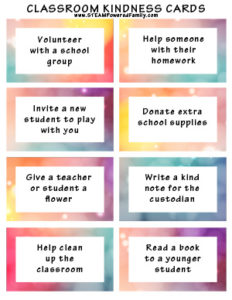 classroom kindness cards