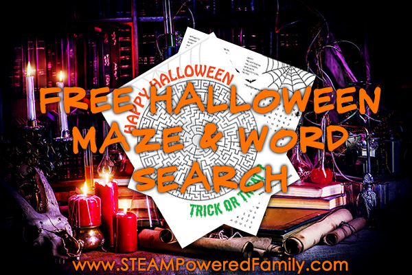 Free Halloween Maze and Word Search Games