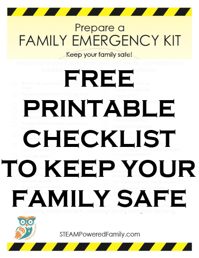 Family Emergency Kit Printable