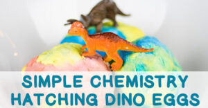 Hatch baking soda dinosaur eggs with science in this fun chemistry activity that will capture the imagination of all ages! Simple, fun chemistry lesson.