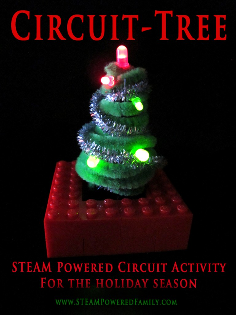 Circuit-Tree - A STEAM powered activity that involves building basic circuitry to create a festive tree for the holidays.
