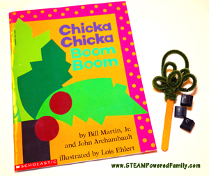 Chicka Chicka Boom Boom Ornament - A fun STEAM activity that teaches about computers, keyboard functions, engineering, fine motor skills and more. Plus kids get to take apart a keyboard!