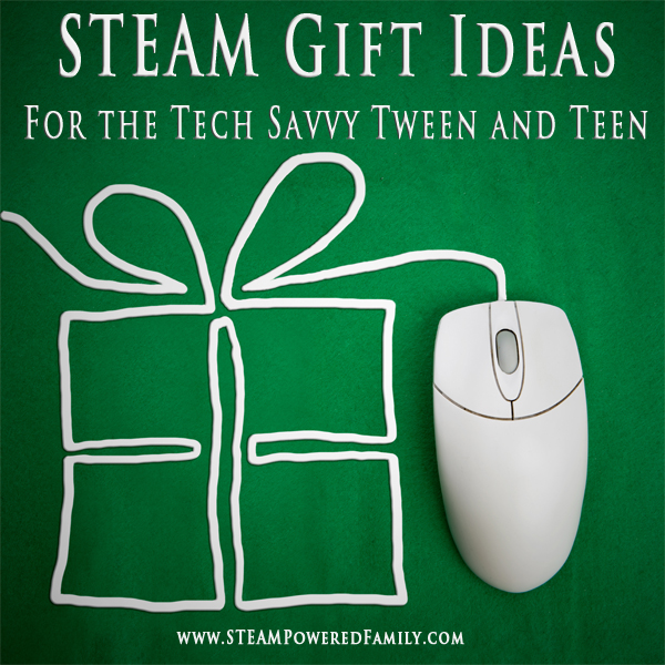 STEAM Gift Ideas for the tech savvy tween and teen. Science, Technology, Engineering, Arts and Math combine for some cool and educational presents that tweens and teens will love