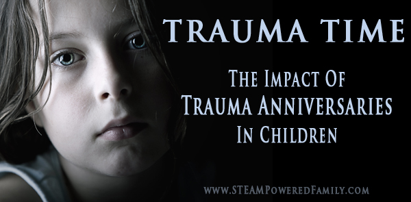 Trauma Time - The Impact Of Trauma Anniversaries on Children. Things parents and all adults who work with children should know.