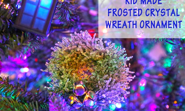 Kid Made Crystal Wreath Ornaments