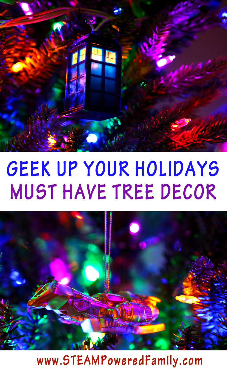 Geeky Tree, Oh Geeky Tree! Must have geek ornaments for the tree