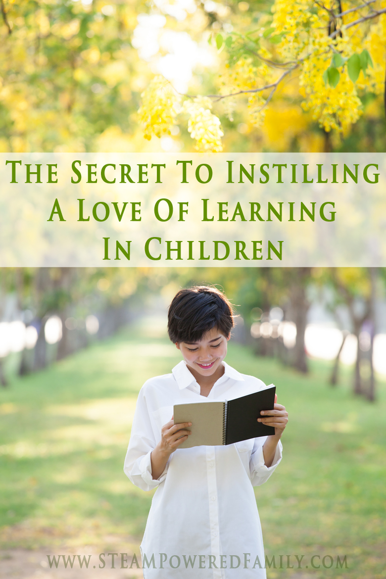 The Secret to Instilling A Love Of Learning In Children. It's something we all can do and should do! Instill a love of learning in children and it will last them a lifetime.