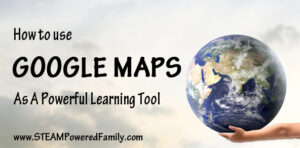How to use Google Maps as a powerful learning tool. Such a great out of the box use! A great way to learn about our world.
