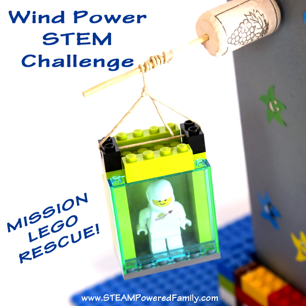 Wind Powered STEM Challenge - Mission Lego Rescue