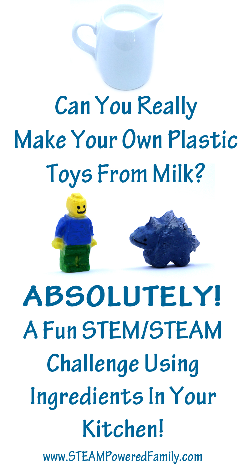 Make plastic from milk. Create your own toys, beads, jewelry, and more, with ingredients you have right now in your kitchen. It's so easy and super cool!