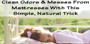 How To Clean A Mattress - Remove odors and kid messes with this simple, natural trick that really works!