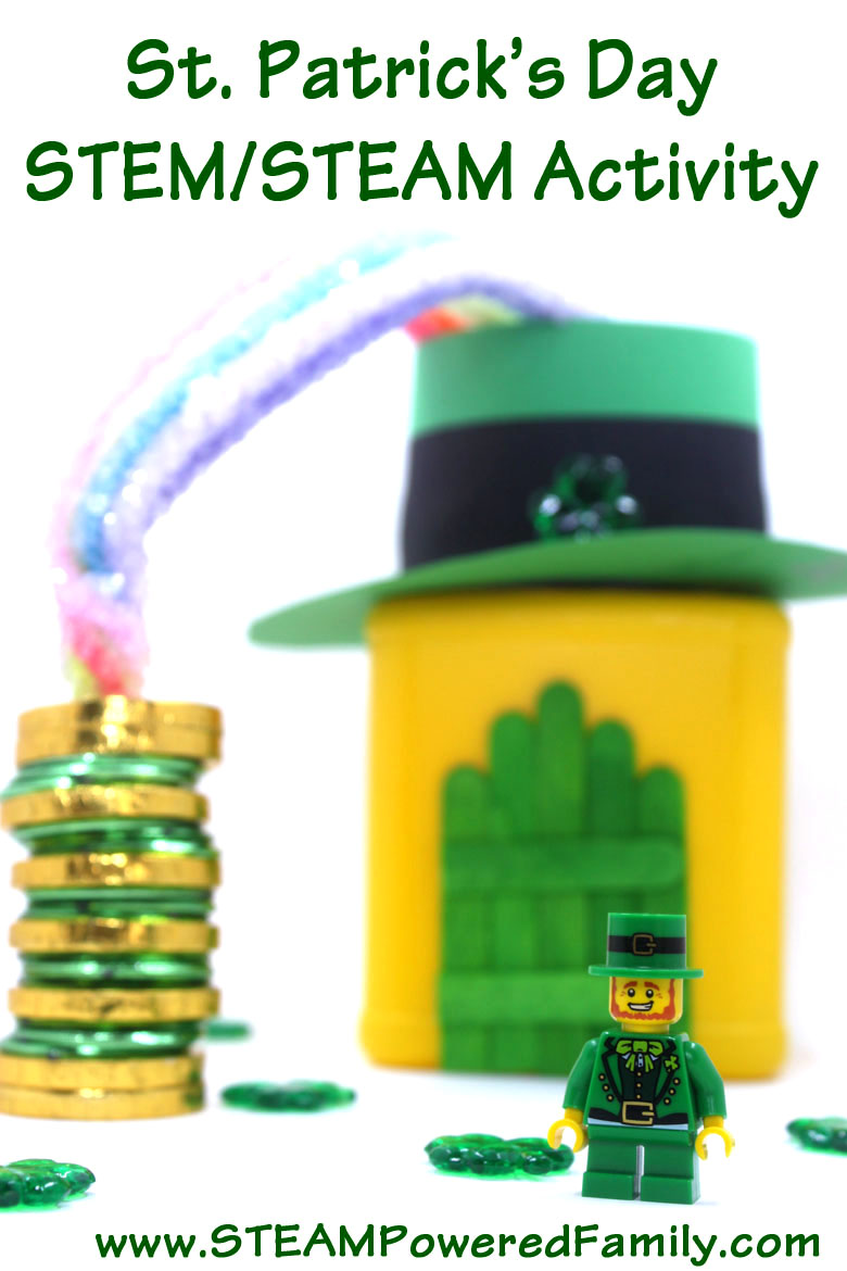 St. Patrick's Day STEM/STEAM Activity that includes some math, engineering, science and arts. A great STEM and STEAM activity for young scientists.