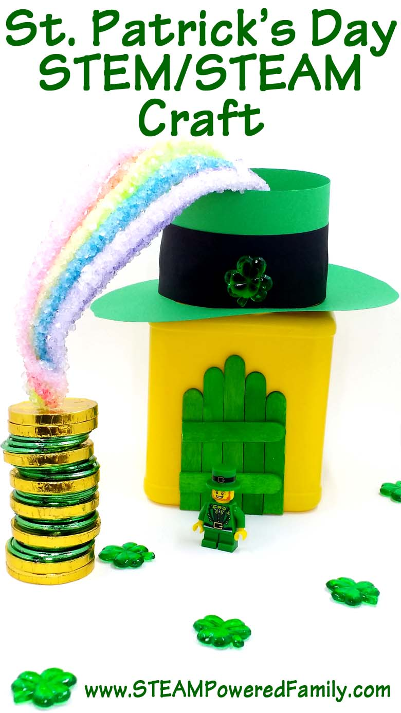 St. Patrick's Day STEM/STEAM Activity that includes math, engineering, science and arts. A great STEM and STEAM activity for young scientists