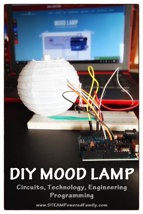 DIY Mood Lamp - Electronics, Circuits, Programming, Tech & Engineering. I've discovered a fantastic program that makes learning tech fun and easy! Creation Crate