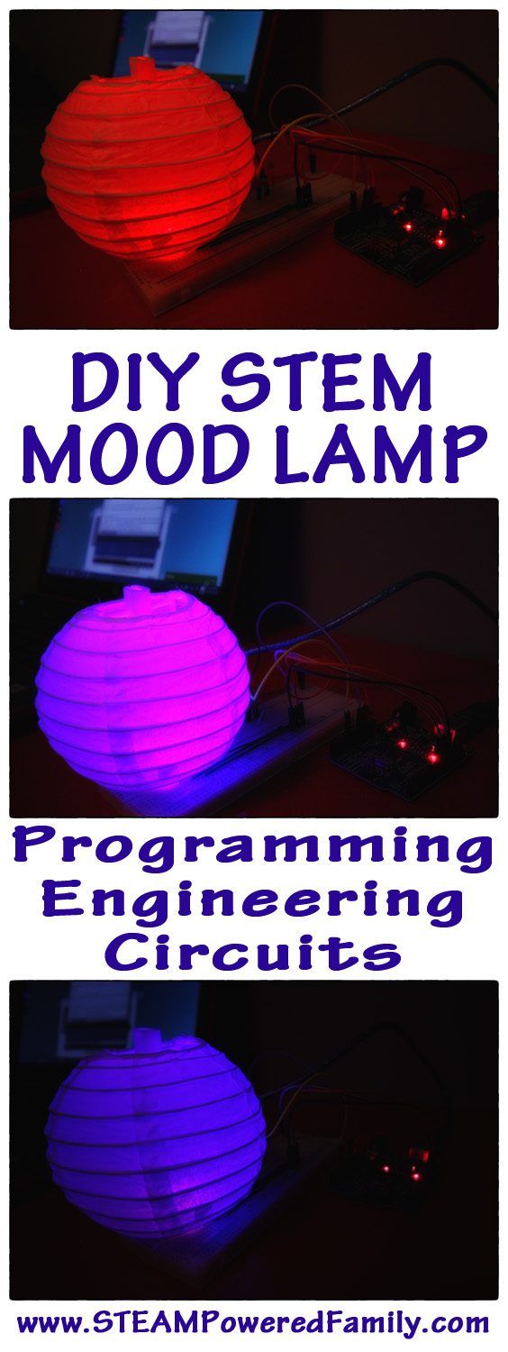 DIY Mood Lamp. Learn electronics, circuits, programming, technology and engineering with this exciting new STEM educational program. Building the makers of tomorrow with Creation Crate.