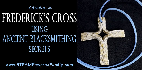 A Frederick's Cross is a beautiful piece created by blacksmiths. Learn the ancient blacksmith secrets and create your own cross using a no fire, no forge method. Great for all ages and a wonderful gift or keepsake.