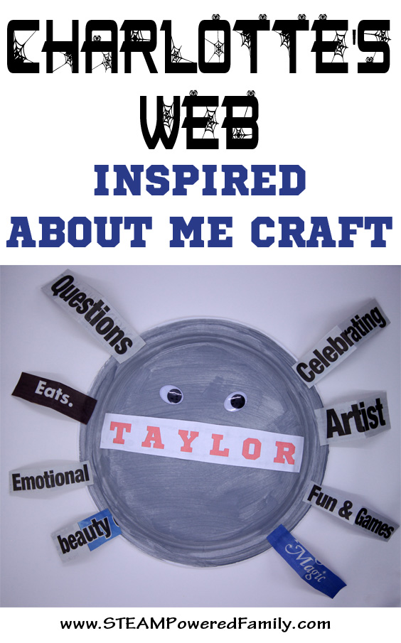 Charlotte's Web Inspired About Me Craft that will get kids expanding their vocabulary and understanding of themselves.