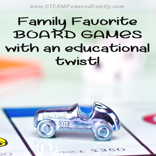 Family Favorite Board Games With An Educational Twist.