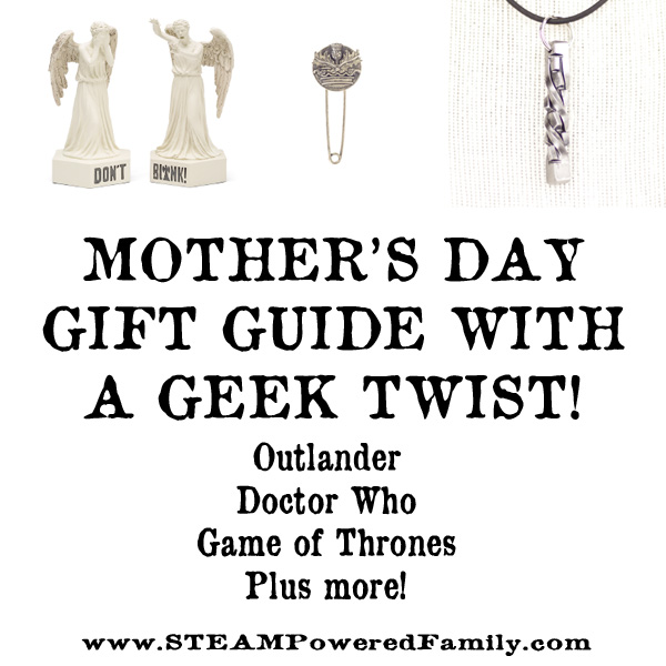 Mother's Day Gift Guide with a Geek Twist. Unique and special items for the unique and special person in your life.