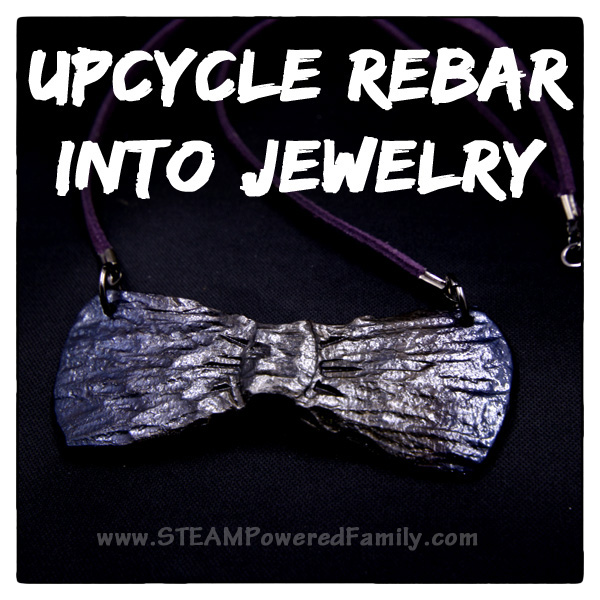 Upcycle Rebar Into Jewelry - An Earth Day Upcycle Challenge brought to you by a blacksmith!