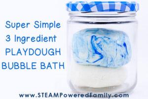 Homemade playdough for the bath