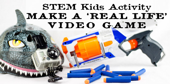 STEM Kid's Activity using technology to create a first person, real life, video game. It's fascinating to see the world through your child's eyes.