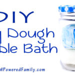 Super Simple 3 Ingredient Play Dough Bubble Bath