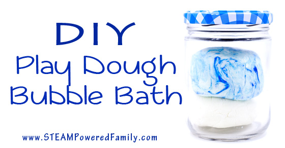 Super Simple 3 Ingredient Play Dough Bubble Bath
