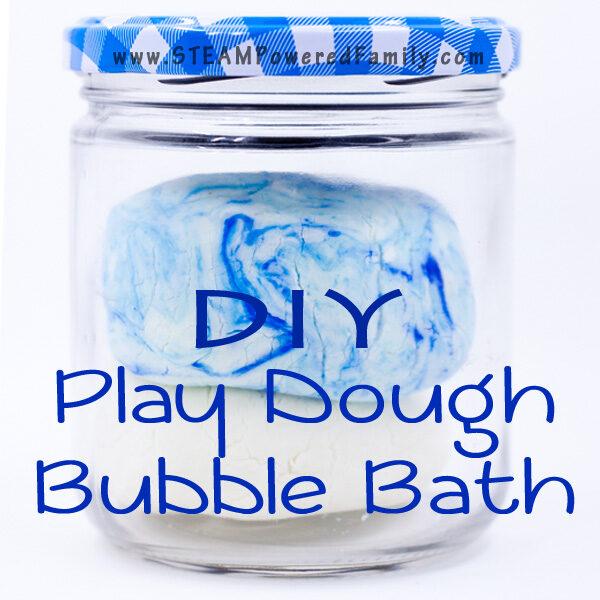 DIY Play Dough Bubble Bath - Easy clean fun!