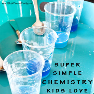 Super Simple Chemistry Kids Love - For the home, classroom, camp or troop, this fun chemistry kids activity is educational, messy, fun!