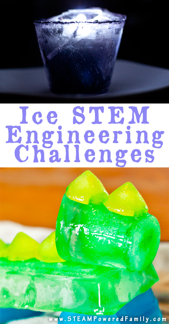 An Ice STEM Engineering Challenge that is fascinating and an inspiring learning opportunity. Perfect for homeschoolers and young scientists, with everything you need in one box.
