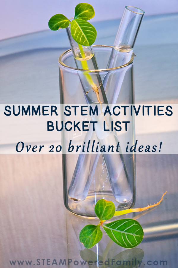Summer STEM Activities Bucket List for Kids with over 20 ideas