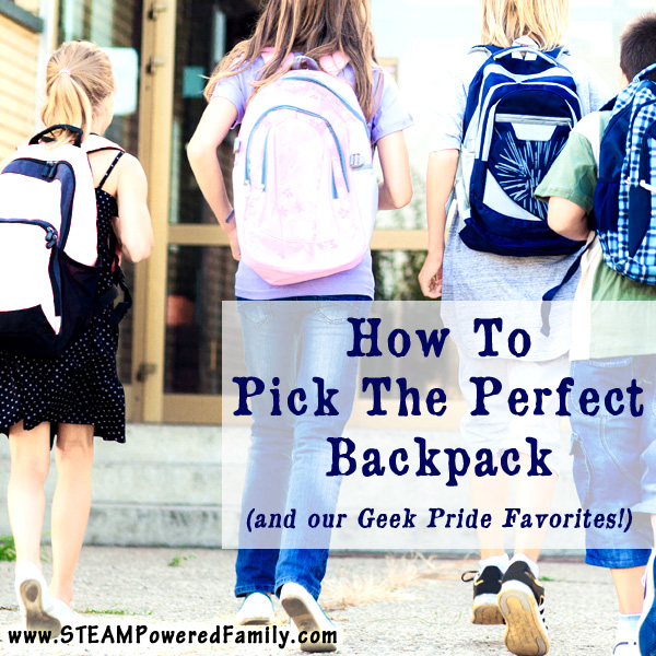 Learn how to find the perfect backpack for your child as they head back to school and check out some of our geek pride backpack picks!